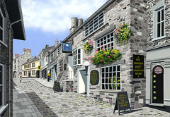 K Village Kendal In The Lakes District The Ken Burdon Collection Paintings of Cumbrian Towns and Villages